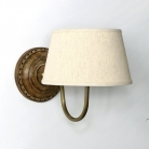 Rustic Beige Linen Wall Light
