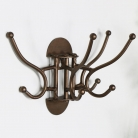 Rustic Copper Wall Mounted Rotating Coat Hooks