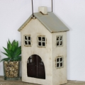 Rustic Cottage Ceramic Candle Lantern
