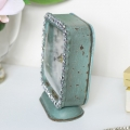 Rustic Green Jewelled Mantle Clock