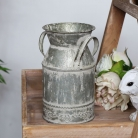 Rustic Grey Metal Churn