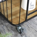 Rustic Industrial Style Trolley with Shelves