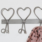 Rustic Metal Heart Coat Hooks