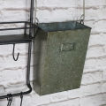 Rustic Metal Utility Shelves with Hooks