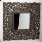 Rustic Ornate Carved Wall Mirror 90cm x 90cm