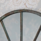 Rustic Wall Mounted Metal Window Mirror 49cm x 77.5cm