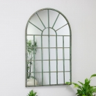 Rustic Wall Mounted Metal Window Mirror 49cm x 77.5cm
