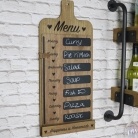 Rustic Weekly Menu Chalk Board