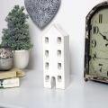 Rustic White 4 Storey House Ornament