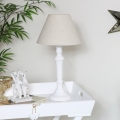Rustic White Table Lamp