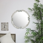 Rustic White Wall Mirror 68cm x 68cm