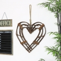 Rustic Wicker Twig Wall Heart