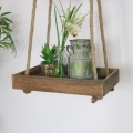 Rustic Wooden Hanging Shelf