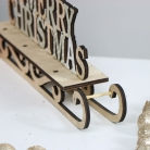 Rustic Wooden 'Merry Christmas' Sleigh