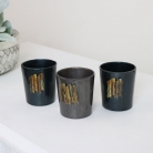 Set of 3 Blue & Grey Tealight Holders