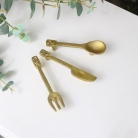 Set of 3 Gold Cutlery Drawer Handles