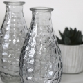 Small Grey Glass Dimple Vase