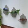 Set of 3 Grey Wooden Planters
