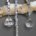 Set of 3 Jewelled Dropper Christmas Baubles