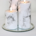 Set of 3 LED Marble Candles