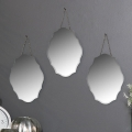 Set of 3 Ornate Frameless Wall Mirrors