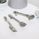 Set of 3 Silver Cutlery Drawer Handles
