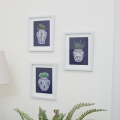 Set of 3 Willow Patterned Wall Prints