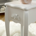 Set of Two White occasional Lamp Tables - Flore Range