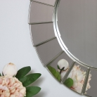 Silver Deco Wall Mirror
