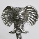 Silver Elephant Head Wall Hook