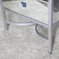 Silver Framed Mirrored Bedside / Occasional Table - Thalia Range