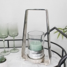 Silver & Glass Candle Holder