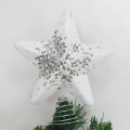 Silver Glitter Star Christmas Tree Topper