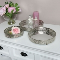 Silver Mirrored Display Trays