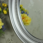 Silver Oval Bevelled Frame Wall Mirror