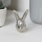 Silver Rabbit Head Drawer Knob