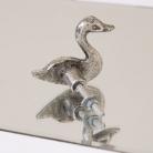 Silver Swan Drawer Knob