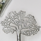 Silver Tree of Life on Wooden Stand