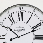 Silver Vintage London Wall Clock