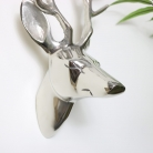 Silver Wall Mounted Stags Head