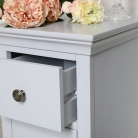 Slim Bedside Table - Newbury Grey Range
