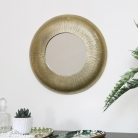 Small Gold Curved Wall Mirror 30.5cm x 30.5cm