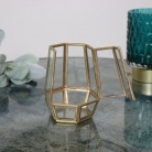 Small Gold Geometric Candle Holder