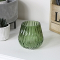 Small Green Glass Tealight Holder