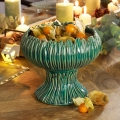 Small Round Teal Standing Bowl