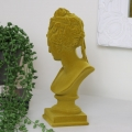 Small Vintage Mustard Yellow Flocked Bust
