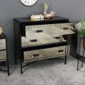 Smoked Copper Mirrored Chest of Drawers - Vico Range