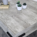 Square Concrete Effect Coffee Table