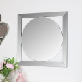 Square Framed Round Mirror