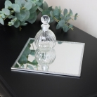 Square Mirrored Silver Display Plate Tray